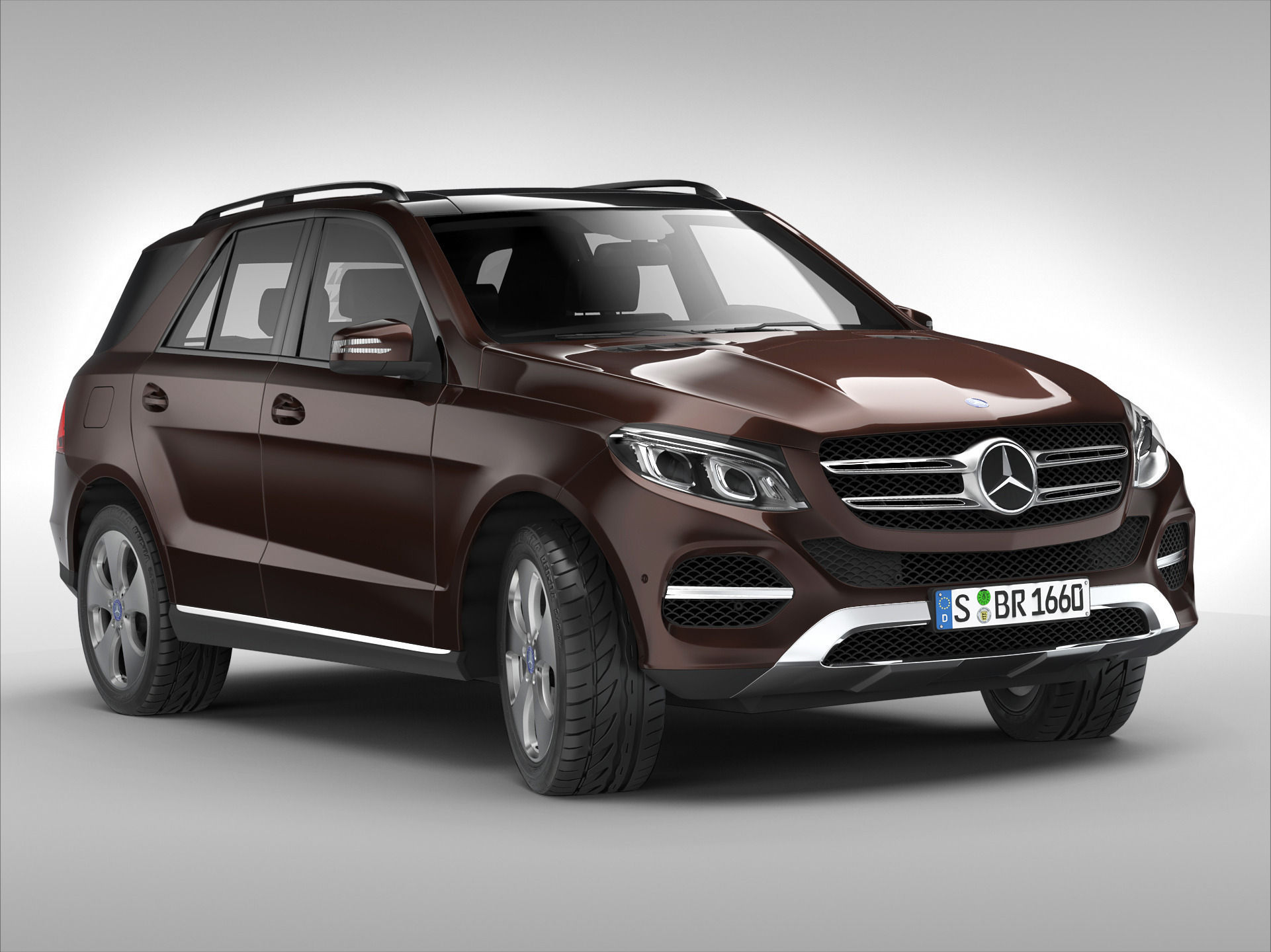 Mercedes benz gle class 2016 3d model max obj 3ds fbx for Mercedes benz suv models
