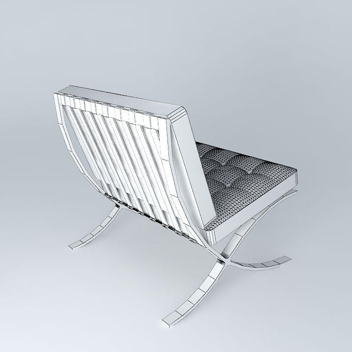 ... Barcelona Chair 3d Model Max Obj 3ds Fbx Stl Dae 4 ...
