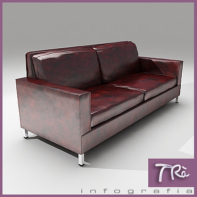 OLD LEATHER SOFA | 3D model