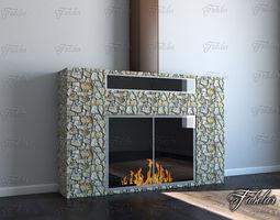 Fireplace 3D model heating