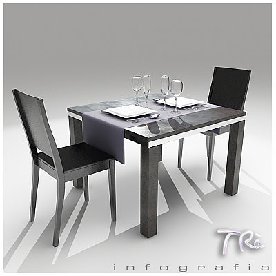 Restaurant Kitchen 3d Model 3d model restaurant bar table 2 | cgtrader