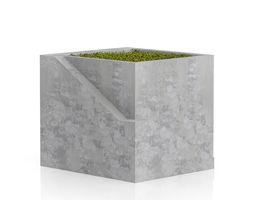 Sqaure Moss Pot 3D