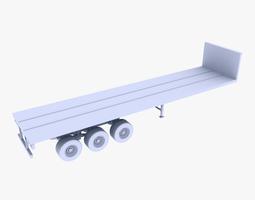 truck trailer  3d asset game-ready
