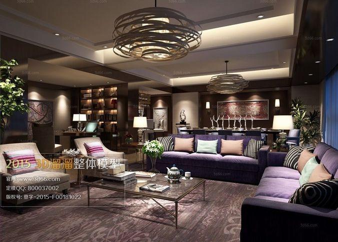 Modern luxury living room design 38 3D Model .max - CGTrader.com