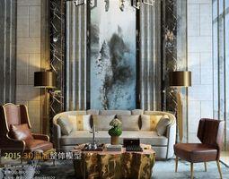Modern luxury living room design 292 3D Model