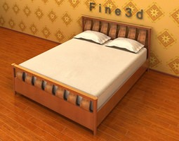 Simple Comfortable Bed 3D model