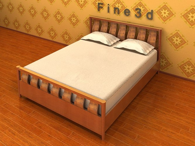 Simple comfortable bed 3d model cgtrader for 3ds max bed model