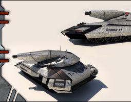 Future Tank 3D Model