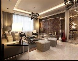 3d expensive flat interior