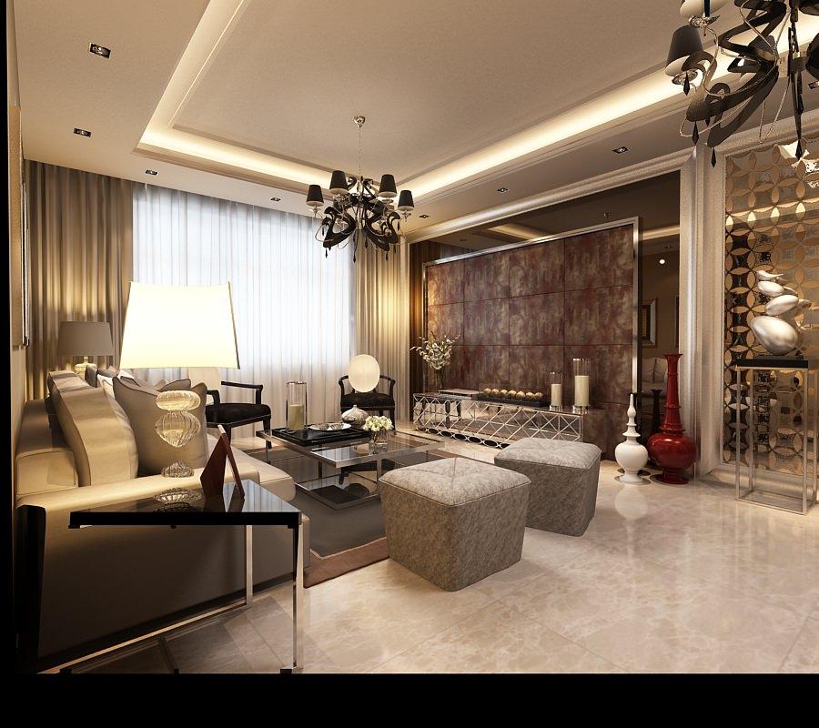 Expensive flat interior 3d model max for Flat interior