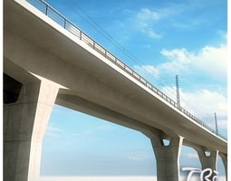 3D model track RAILWAY VIADUCT SECTION