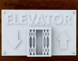 3d Printable Elevator sign STL OBJ 3D Model