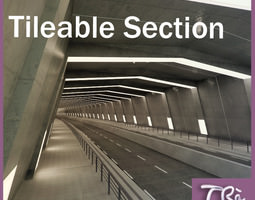 URBAN TUNNEL SECTION 3D model