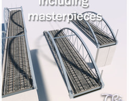 2 IRON RAILWAY BRIDGE 3D