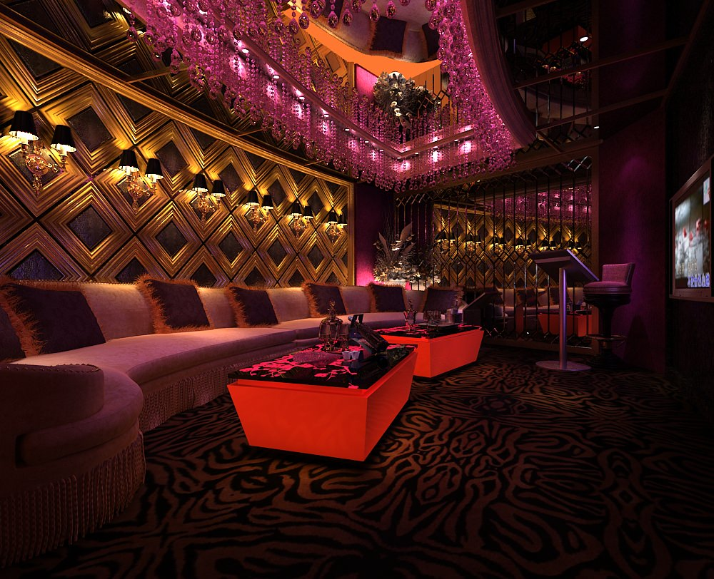 Bar Lounge Interior 3D Model Max