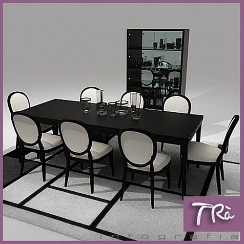 ELEGANT DINING TABLE3D model