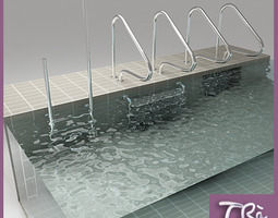 swimming pool ladders 3d