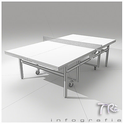 ... Ping Pong Table Butterfly Wheels 3d Model Max 5