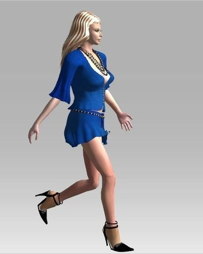 3d model of blonde - photo #49