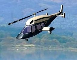 3D Bell 222 helicopter 1