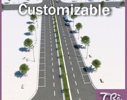 CITY STREET CUSTOMIZABLE 3D