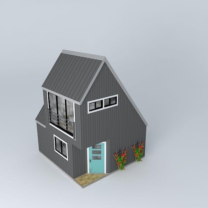 tiny house free 3d model  max  obj  3ds  fbx  stl  dae