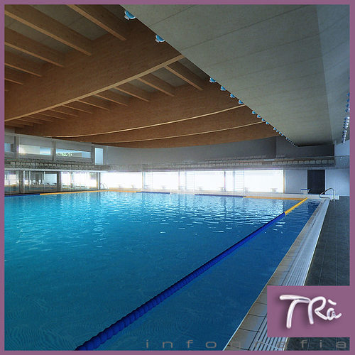 indoor pool complex 3d model max tga 1