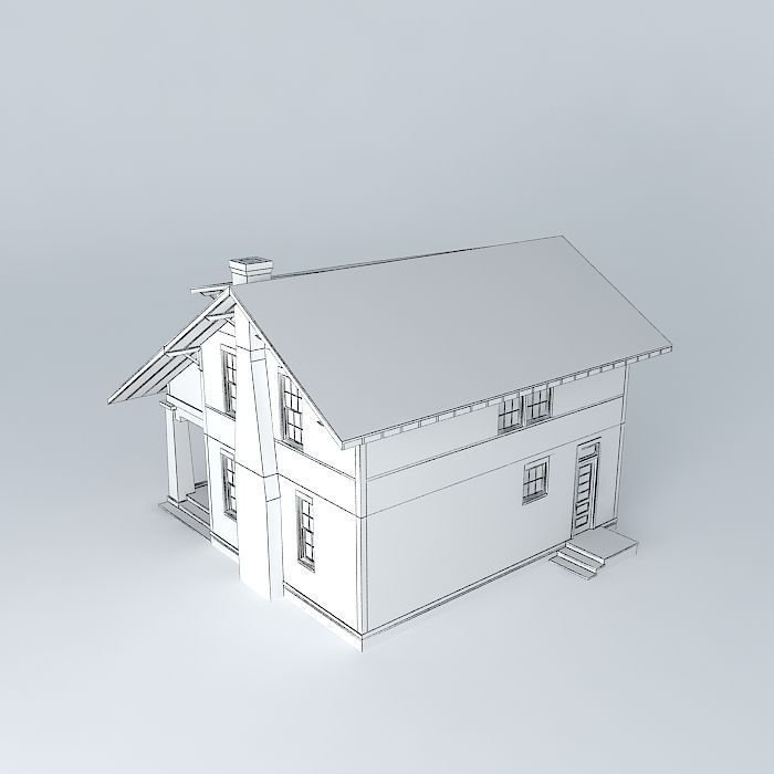 Craftsman Bungalow 3d Model Max Obj 3ds Fbx Stl Dae 5