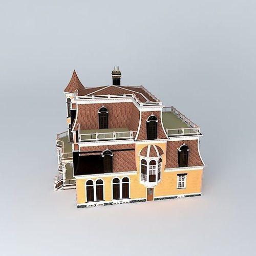 Victorian House 3d Model Max Obj 3ds Fbx Stl Dae 3