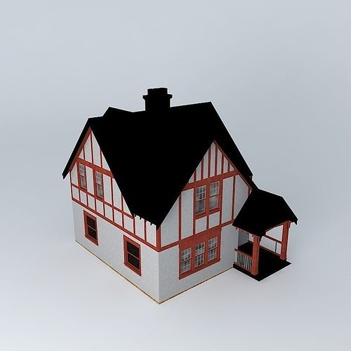 Make 3d model tudor house