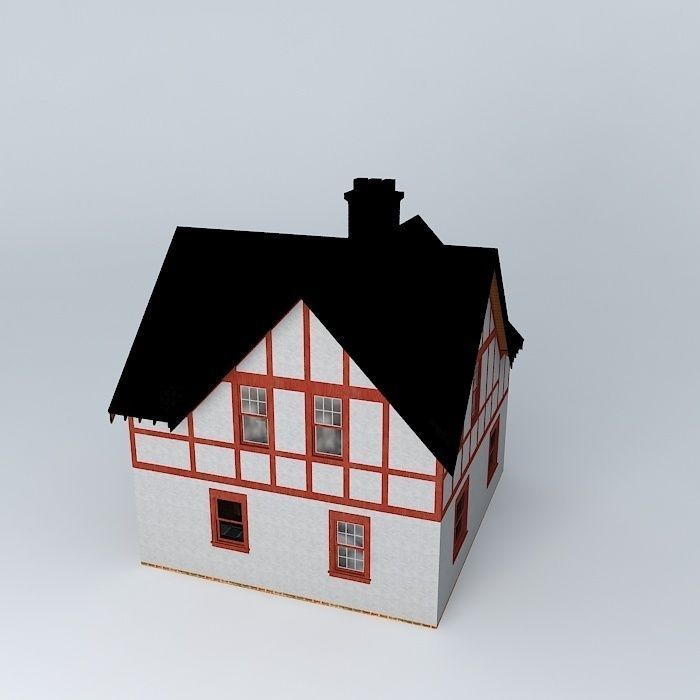 Tudor House 3d Model Max Obj 3ds Fbx Stl Dae 2