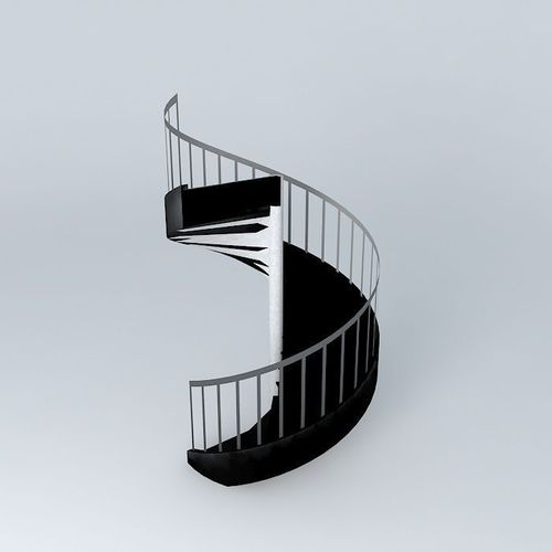Spiral Staircase Free 3d Model Max Obj 3ds Fbx Stl