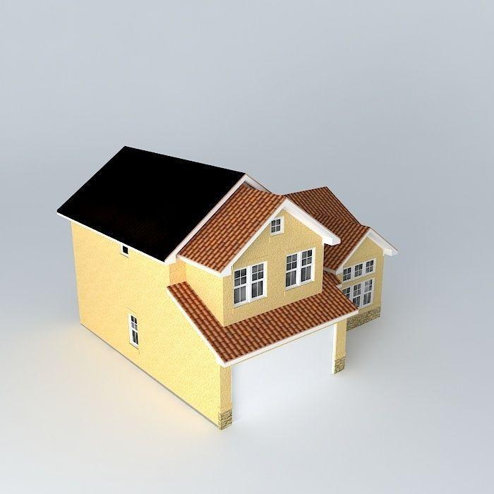 Southwestern House Free 3d Model Max Obj 3ds Fbx Stl
