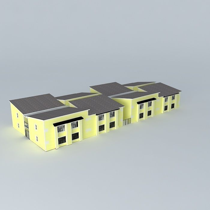 Studio apartments free 3d model max obj 3ds fbx stl for Model studio apartments
