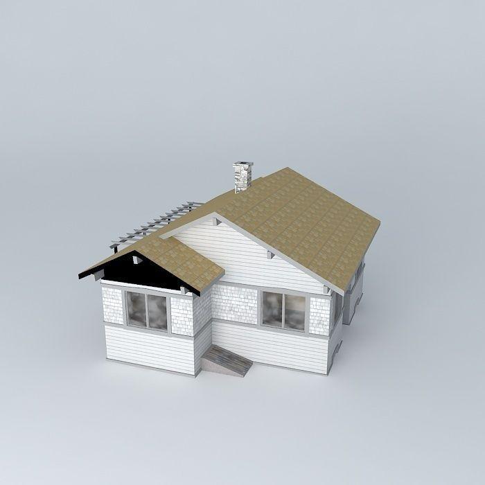 Bungalow Free 3D Model .max .obj .3ds .fbx .stl .dae