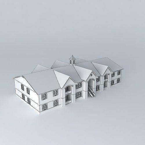 Colonial Village Apartments: Colonial Village Apartments Free 3D Model MAX OBJ 3DS FBX