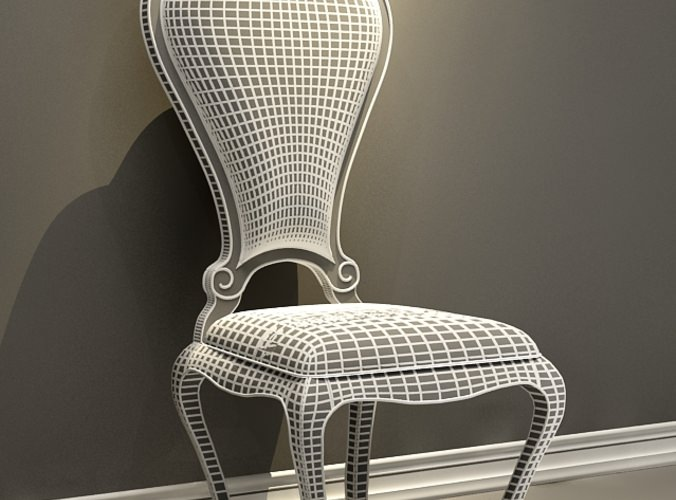 Classic Black Wood Chair
