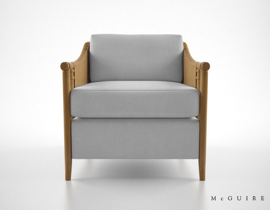 McGuire Furniture Bill Sofield Jolie lounge chair
