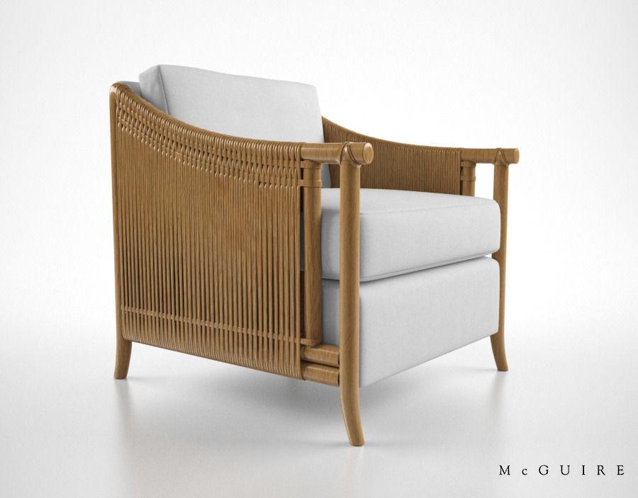 McGuire Furniture Bill Sofield Jolie loung... 3D Model .max .obj .fbx ...