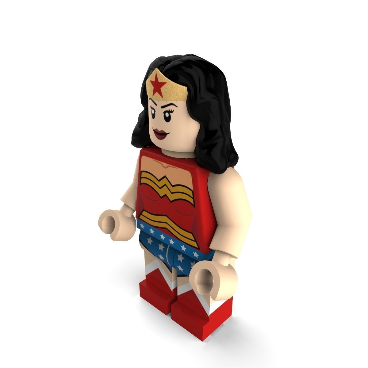 Wonder Woman Lego 3D Model .max .obj .3ds .c4d .lwo .lw ...