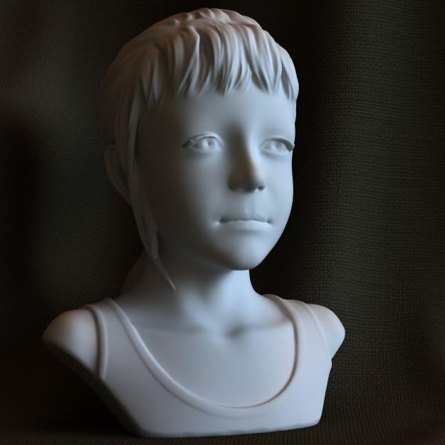 3d printable sculpture Sarah STL OBJ