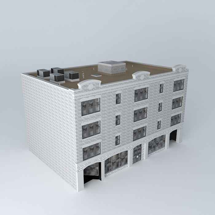 Studio house apartments free 3d model max obj 3ds fbx for Model studio apartments