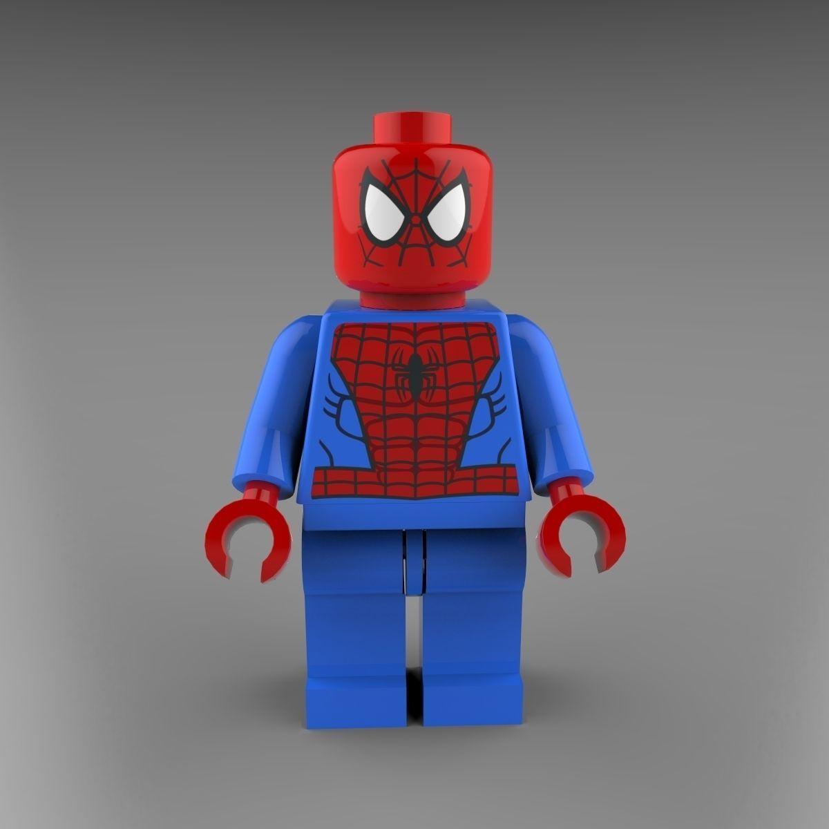 ... Spiderman Lego 3d Model Max Obj 3ds C4d Lwo Lw Lws Ma Mb 5 ...