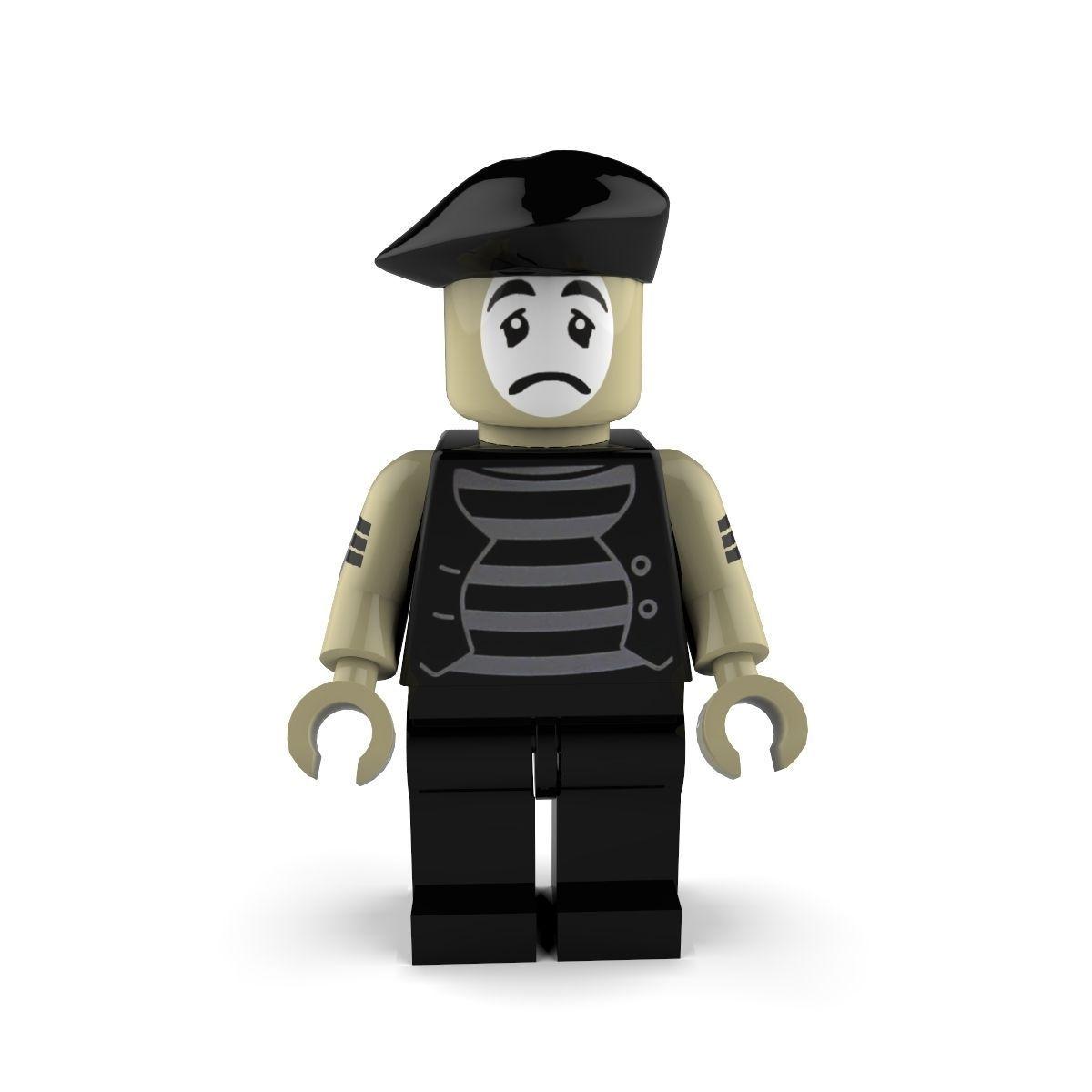 Sad Mime Lego