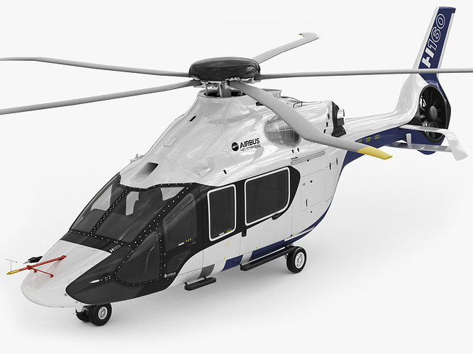 airbus helicopter h160 3d model max obj 3ds fbx c4d lwo lw lws 1