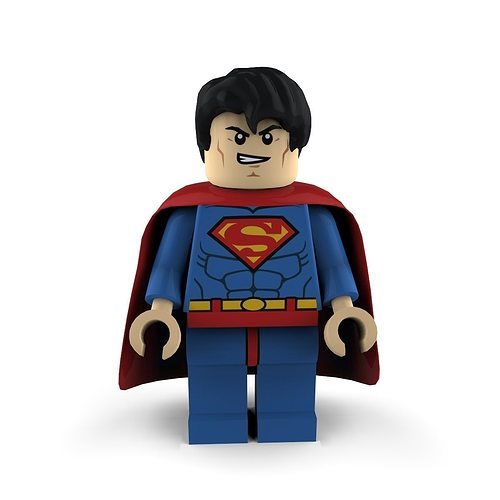 superman lego 3d model max obj mtl 3ds c4d lwo lw lws ma mb 1