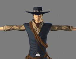 T Pose not rigged Cowboy Ken Ronan AAA 3D model