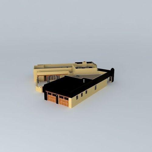 Pueblo style house free 3d model max obj 3ds fbx stl for How to build a model pueblo house