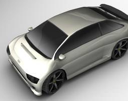 3D model A Hybrid Concept Google Car AAA