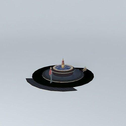 fountain de flora 3d model max obj mtl 3ds fbx stl dae 1